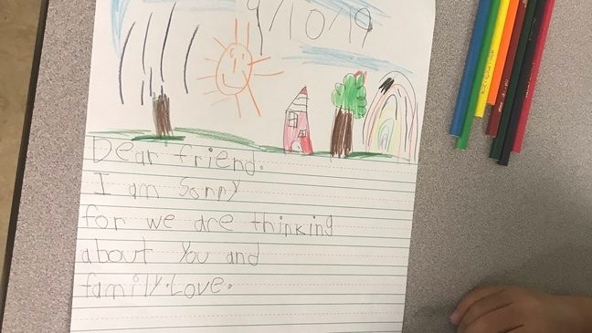 Second-graders write letters to kids in the Bahamas | WPEC