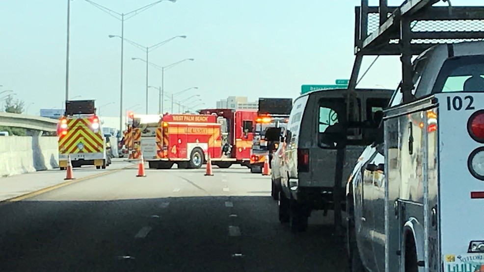 Crash snarls traffic on I-95 in West Palm Beach | WPEC