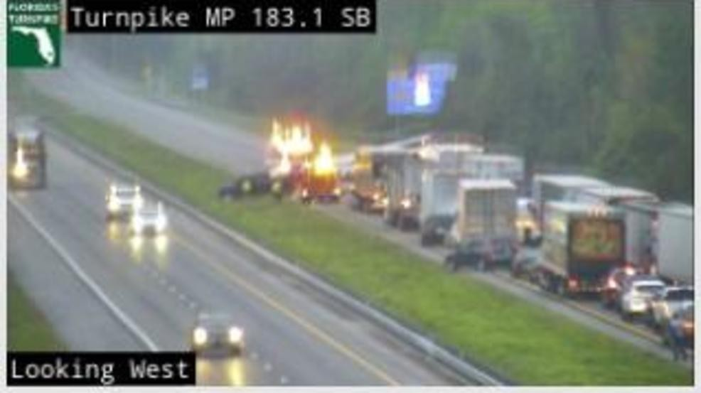 Wreck partially closes Florida's Turnpike south of Yeehaw Junction