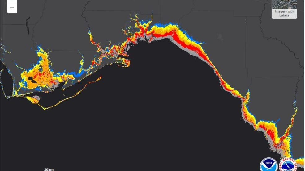 storm surge florida map Interactive Map Shows Storm Surge Potential For Florida From