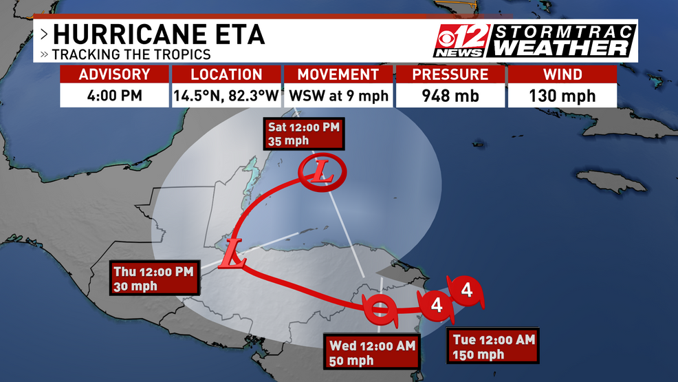 Hurricane Eta Track To Be Watched Closely For Possible Changes Wpec